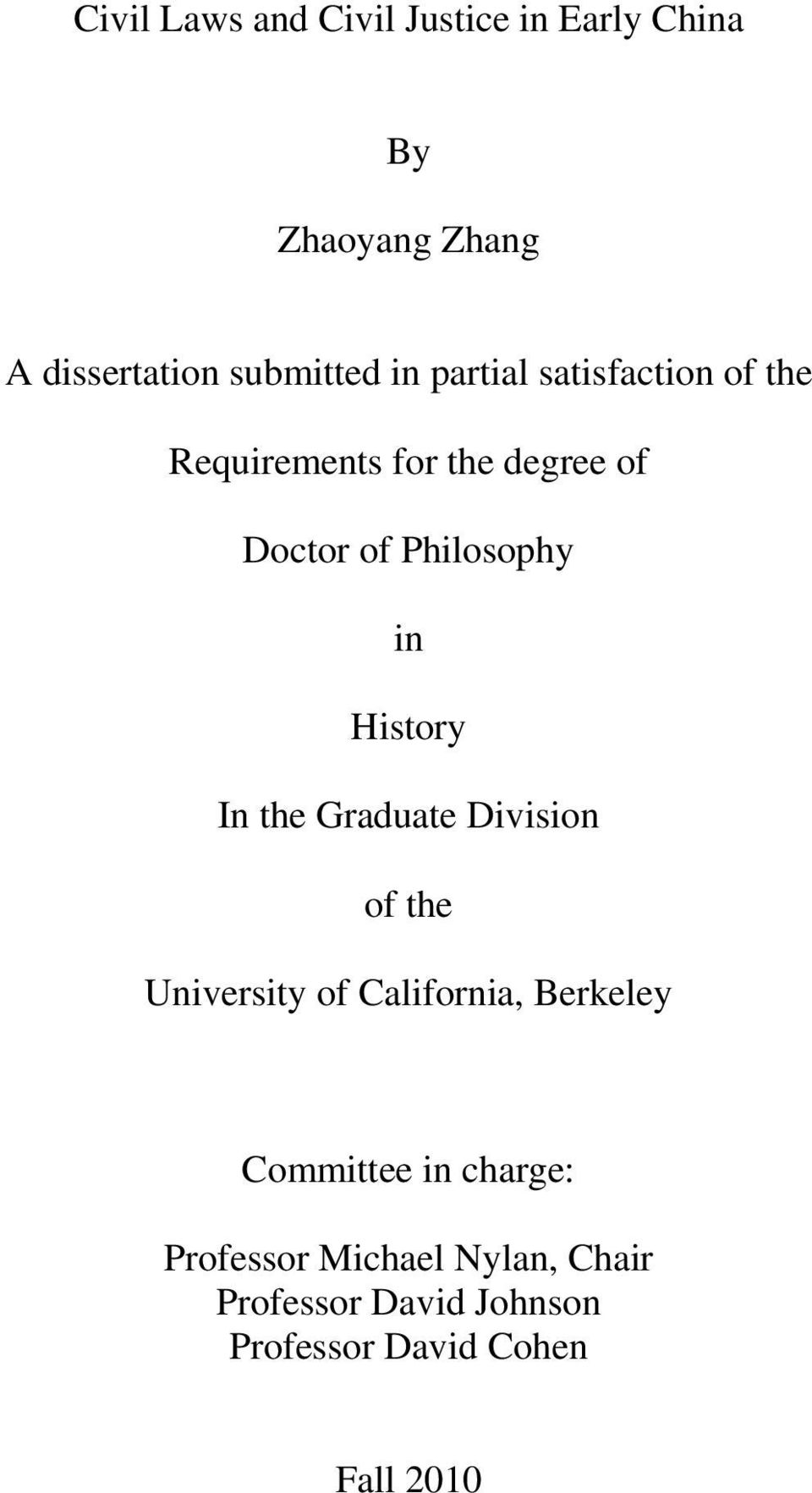university of california dissertations