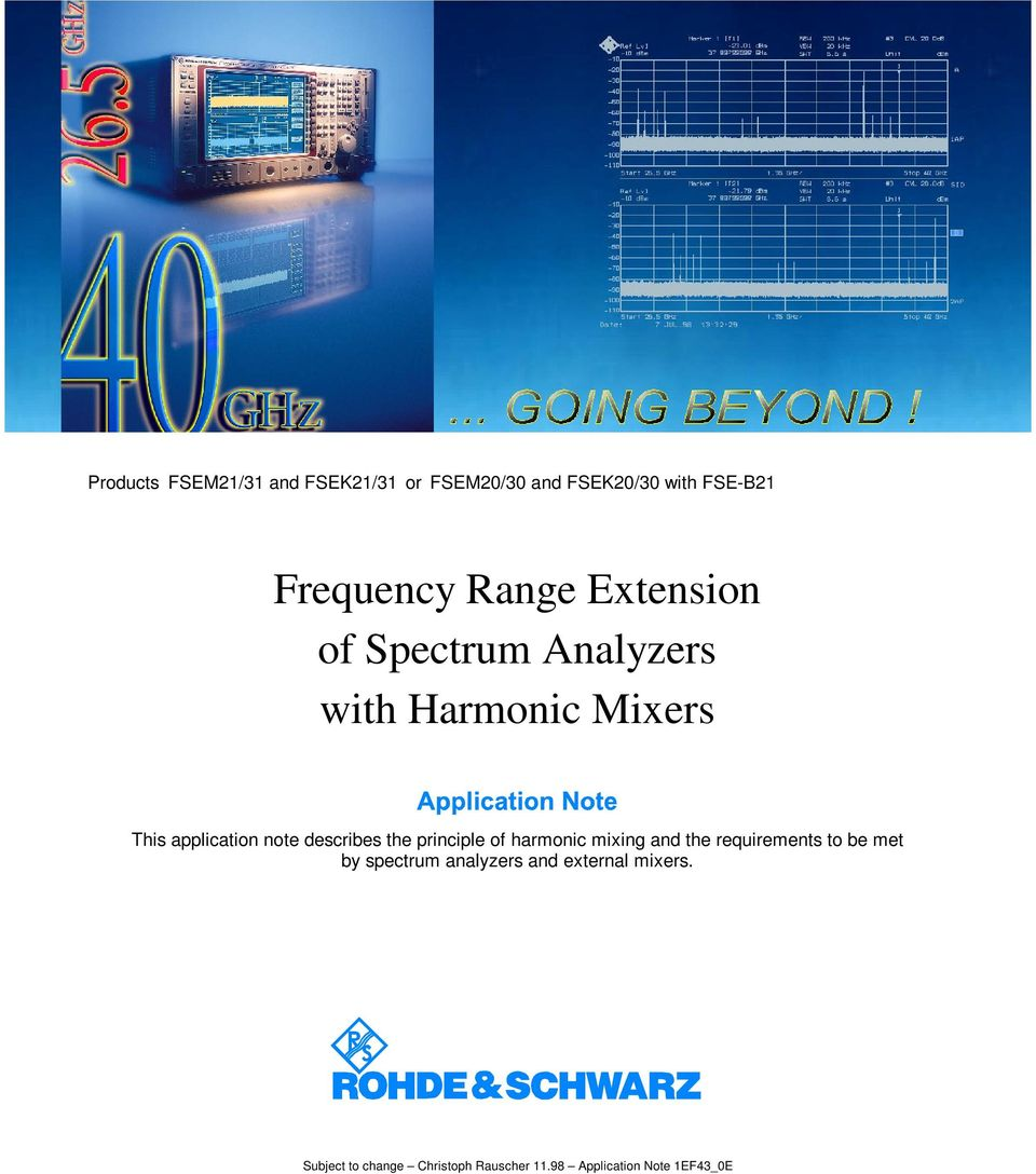describes the principle o harmonic mixing and the requirements to be met by spectrum