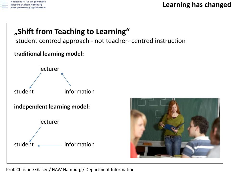 instruction traditional learning model: lecturer student