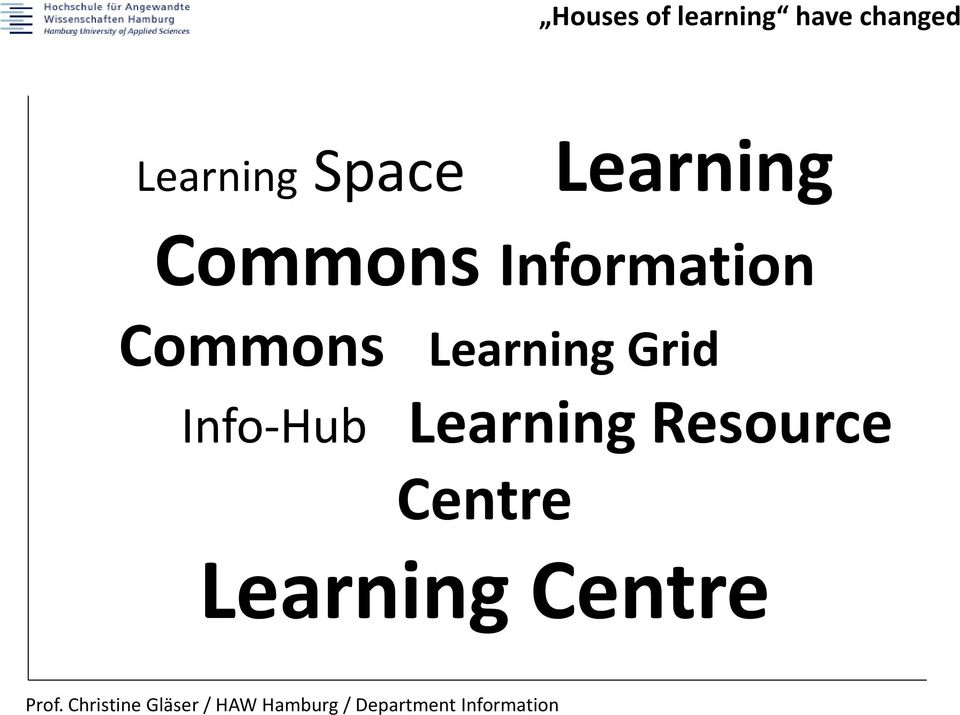 Information Commons Learning Grid