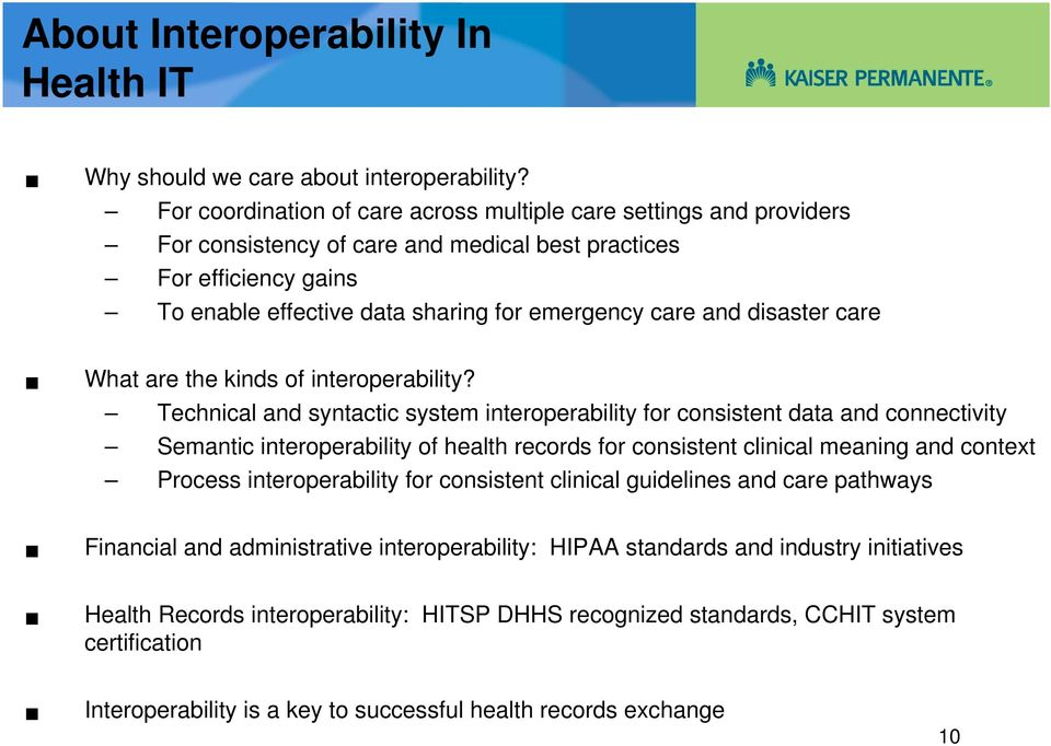 disaster care What are the kinds of interoperability?