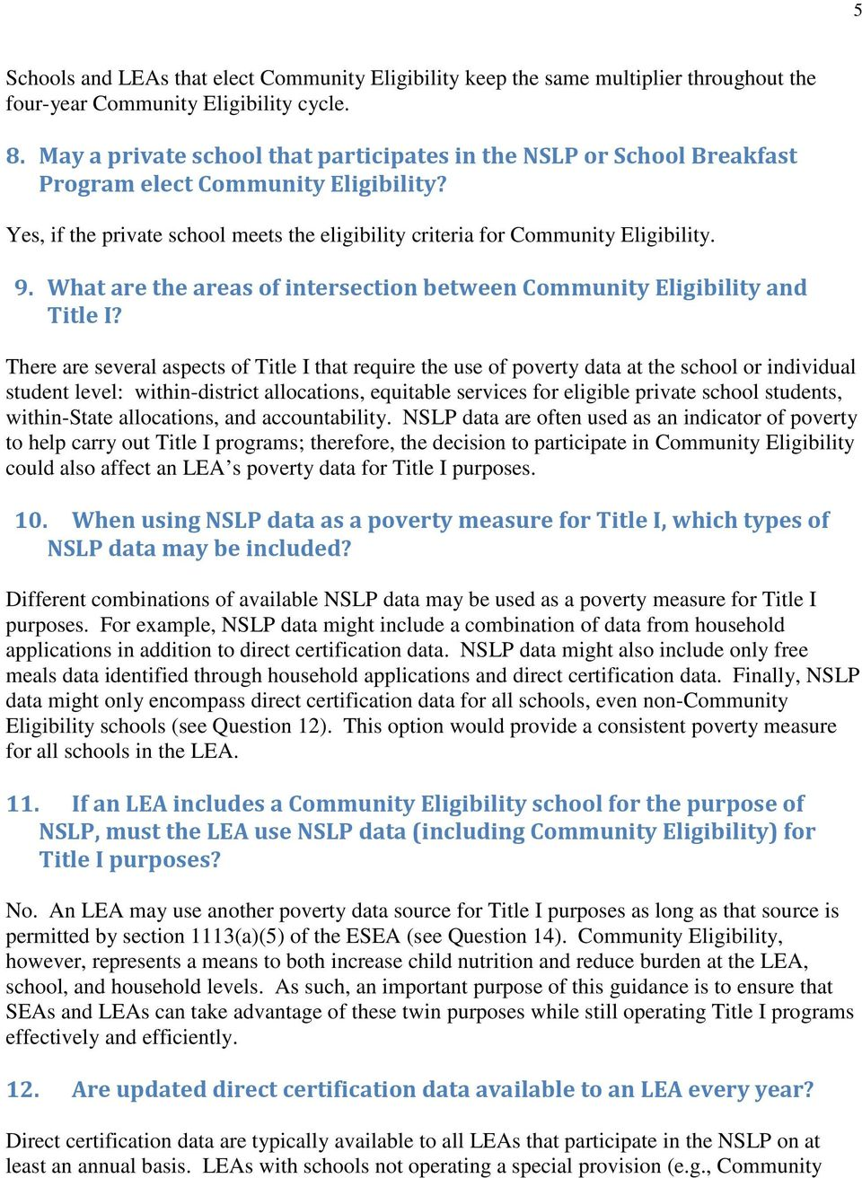 What are the areas of intersection between Community Eligibility and Title I?