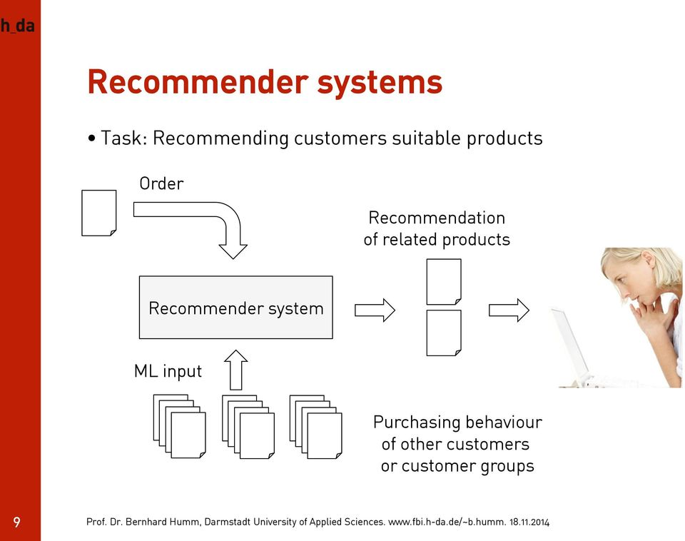 related products Recommender system ML input