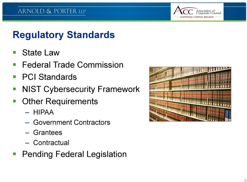 Framework Other Requirements HIPAA Government