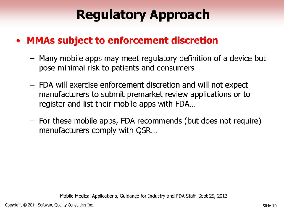 manufacturers to submit premarket review applications or to register and list their mobile apps with FDA For these