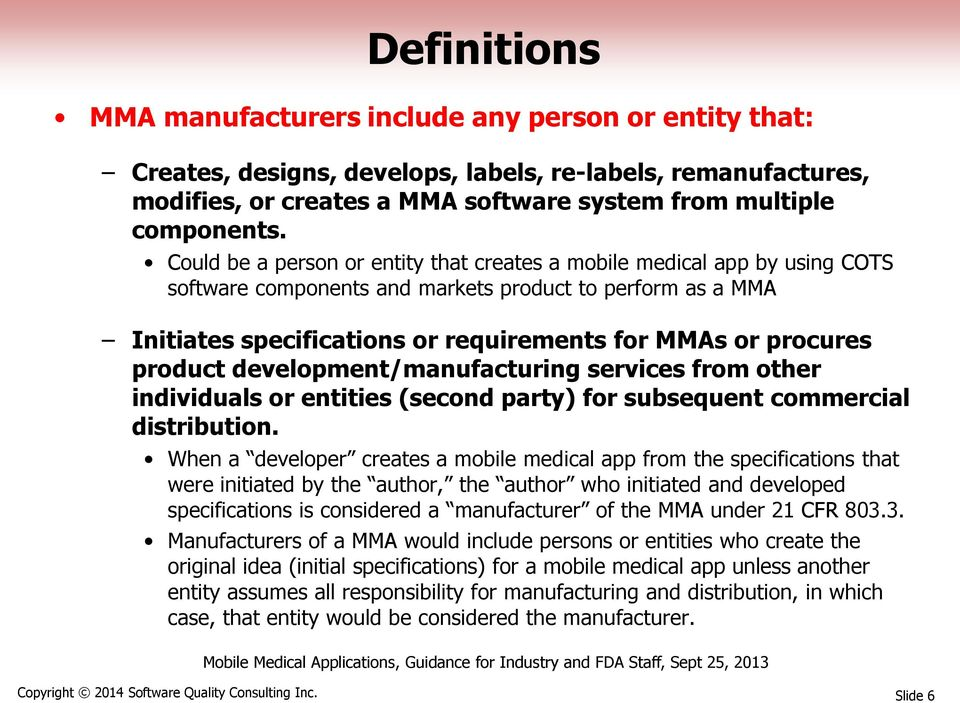 product development/manufacturing services from other individuals or entities (second party) for subsequent commercial distribution.