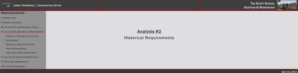 Analysis #2 Historical Requirements