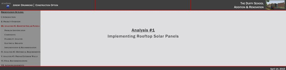 Analysis #1 Implementing Rooftop Solar Panels