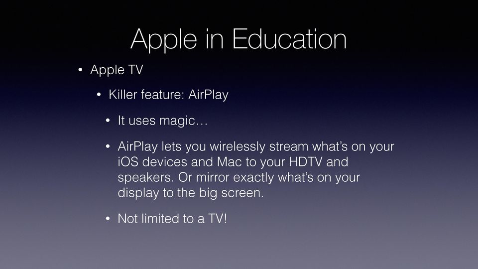 and Mac to your HDTV and speakers.