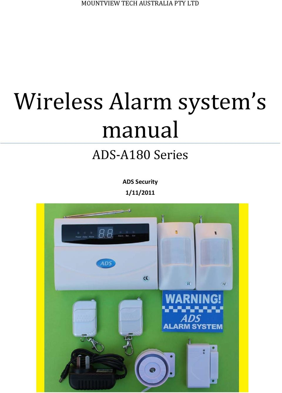 system s manual ADS A180