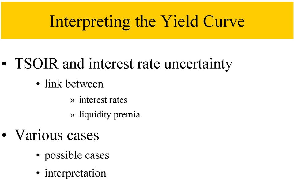 Various cases» interest rates»