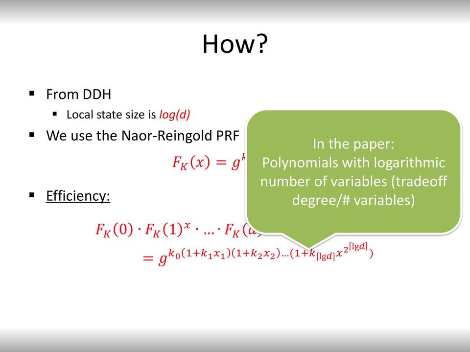 the paper: Polynomials with logarithmic