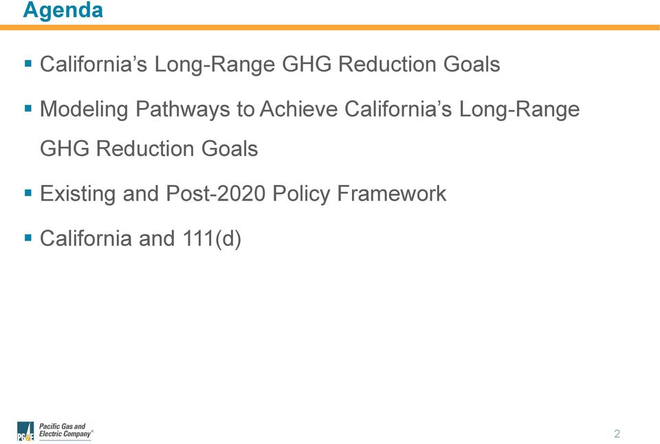 s Long-Range GHG Reduction Goals Existing and
