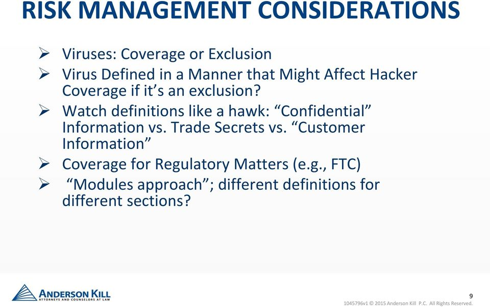 Watch definitions like a hawk: Confidential Information vs. Trade Secrets vs.