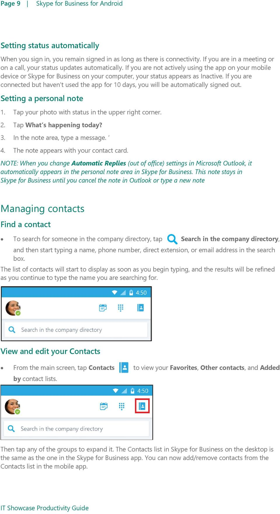Skype for Business for Android - PDF