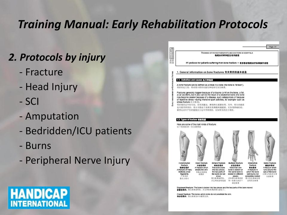 Protocols by injury - Fracture - Head