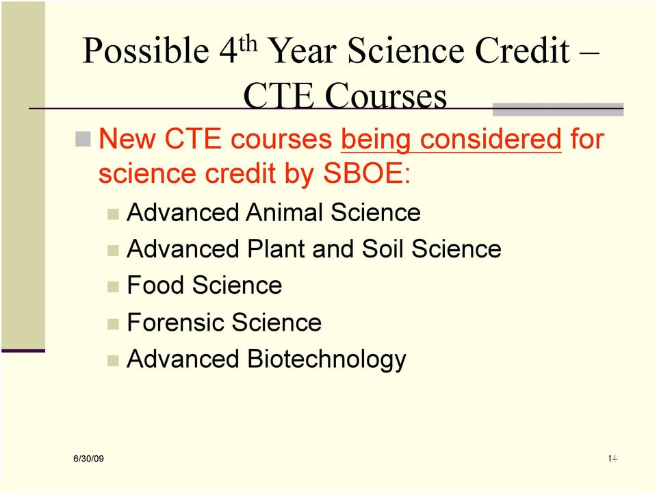 Advanced Plant and Soil Science Food Science Forensic Science