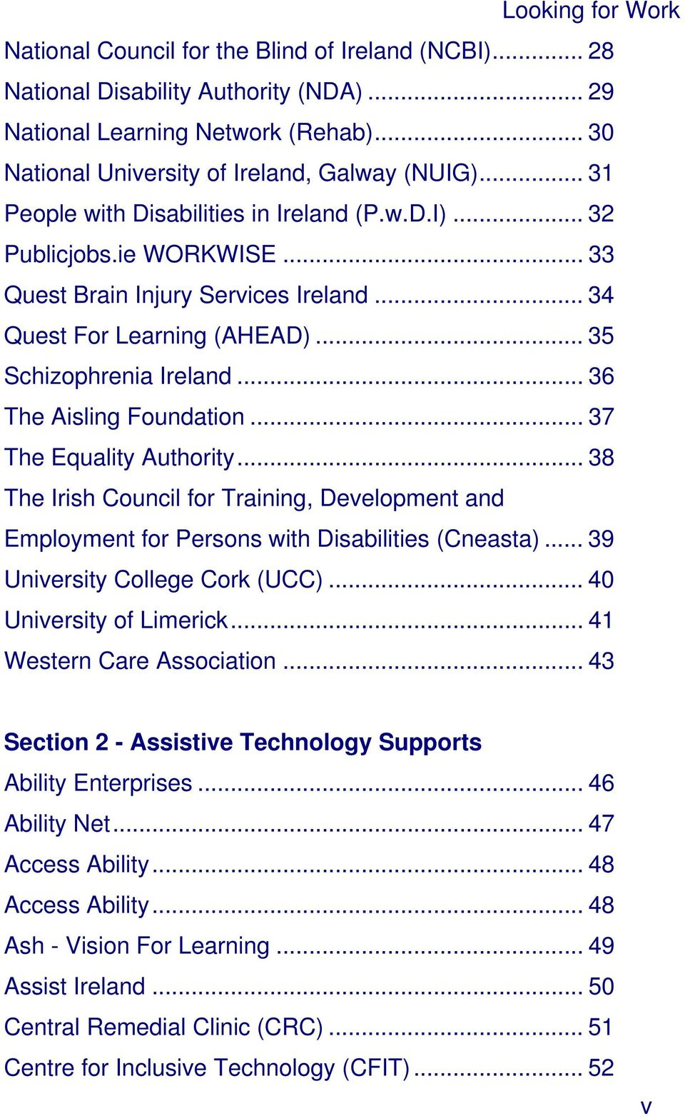 .. 36 The Aisling Foundation... 37 The Equality Authority... 38 The Irish Council for Training, Development and Employment for Persons with Disabilities (Cneasta)... 39 University College Cork (UCC).
