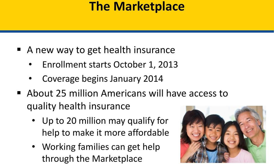 access to quality health insurance Up to 20 million may qualify for help to