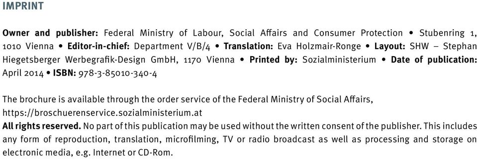 the order service of the Federal Ministry of Social Affairs, https://broschuerenservice.sozialministerium.at All rights reserved.