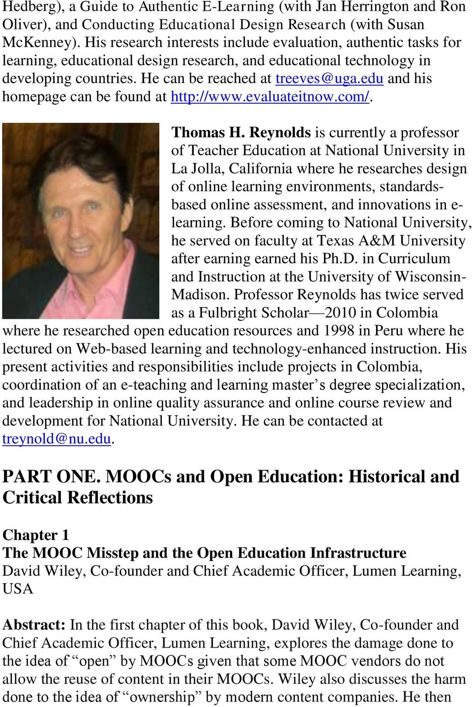 edu and his homepage can be found at http://www.evaluateitnow.com/. Thomas H.