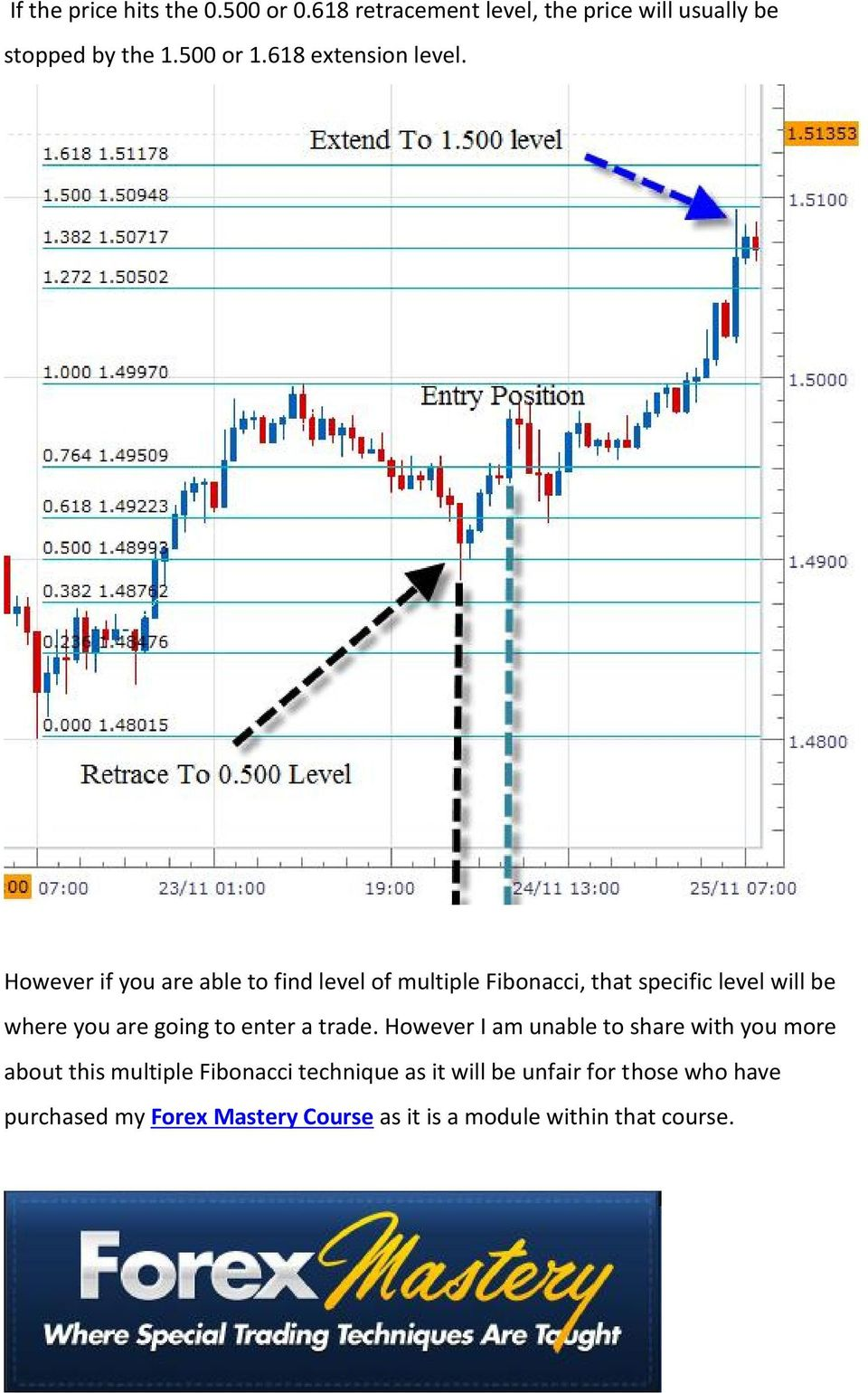 However if you are able to find level of multiple Fibonacci, that specific level will be where you are going to