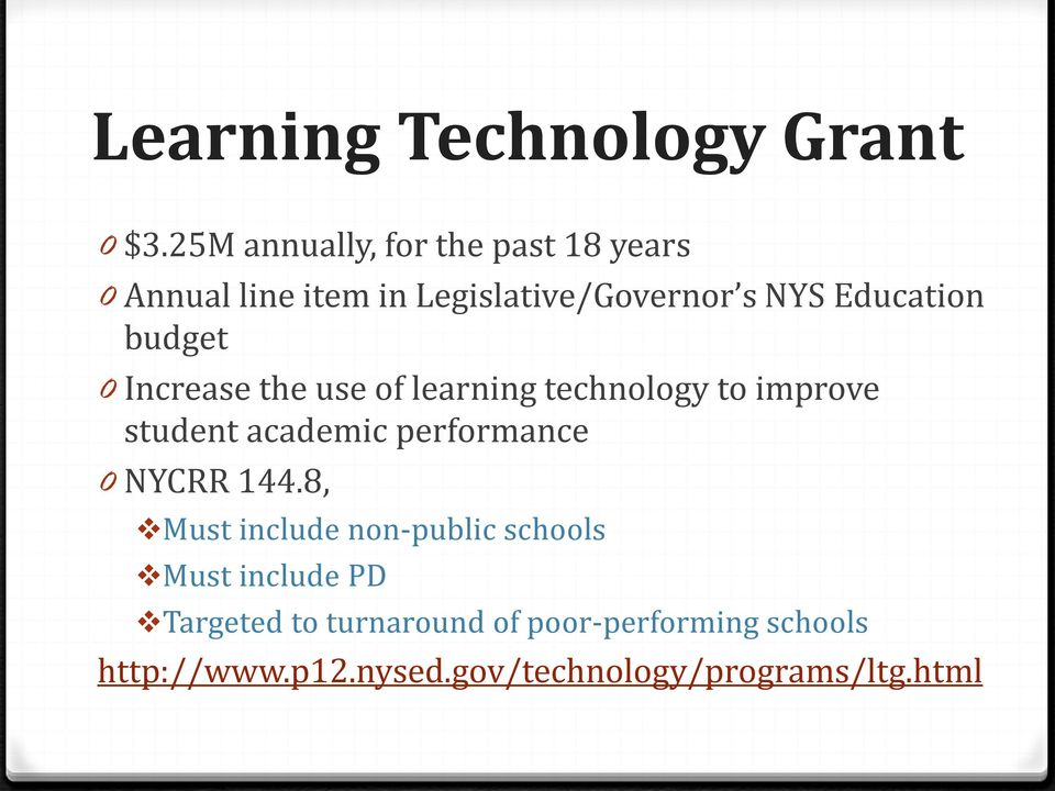 budget 0 Increase the use of learning technology to improve student academic performance 0