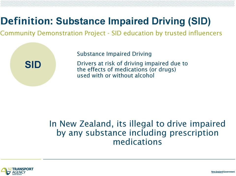 driving impaired due to the effects of medications (or drugs) used with or without