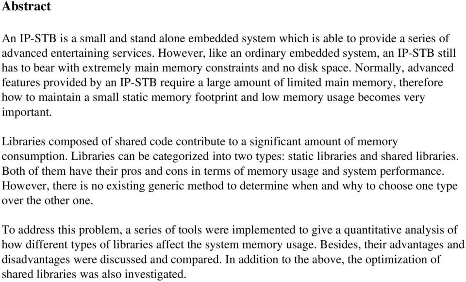 An analysis of how static and shared libraries affect memory