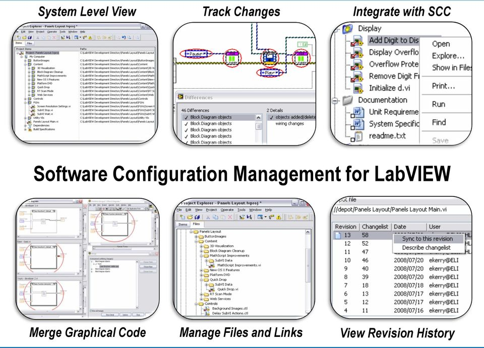 Management for LabVIEW Merge Graphical