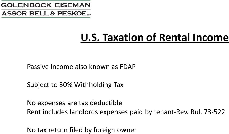 tax deductible Rent includes landlords expenses paid by