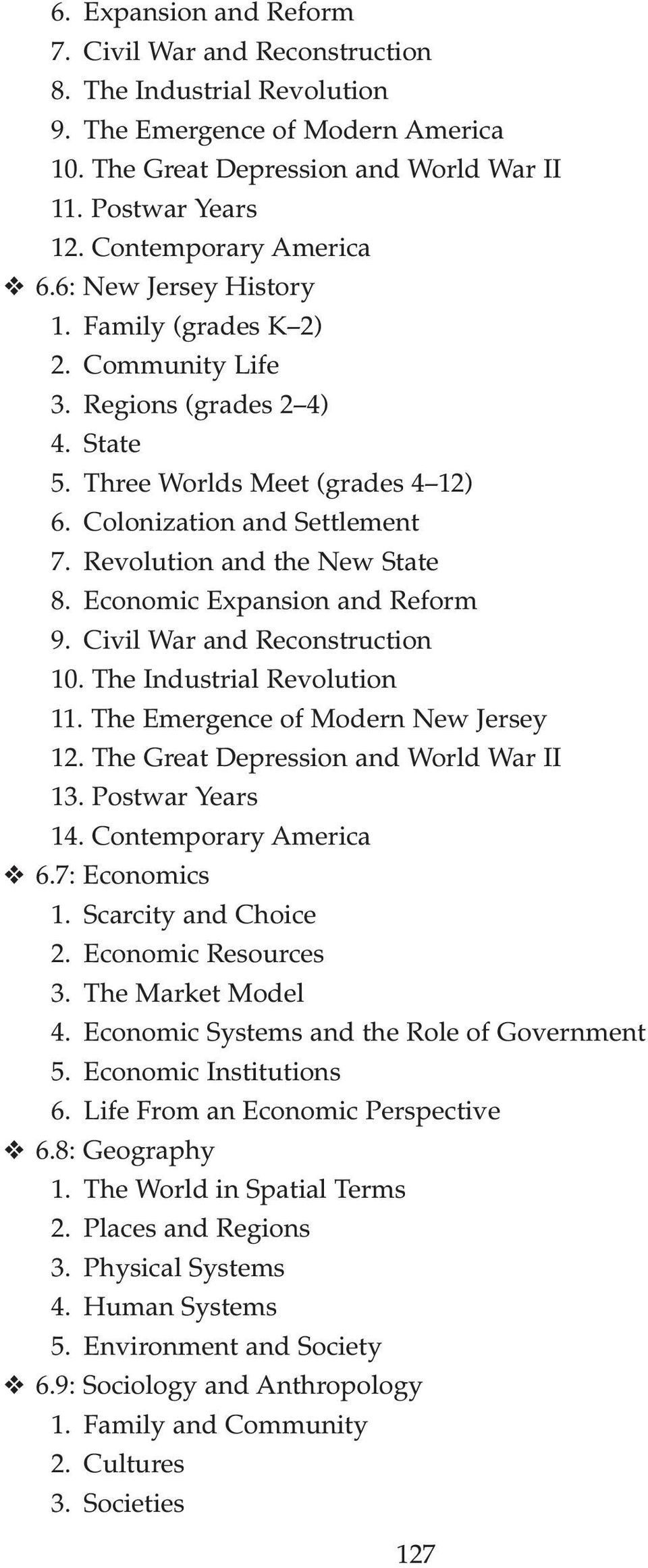 Revolution and the New State 8. Economic Expansion and Reform 9. Civil War and Reconstruction 10. The Industrial Revolution 11. The Emergence of Modern New Jersey 12.