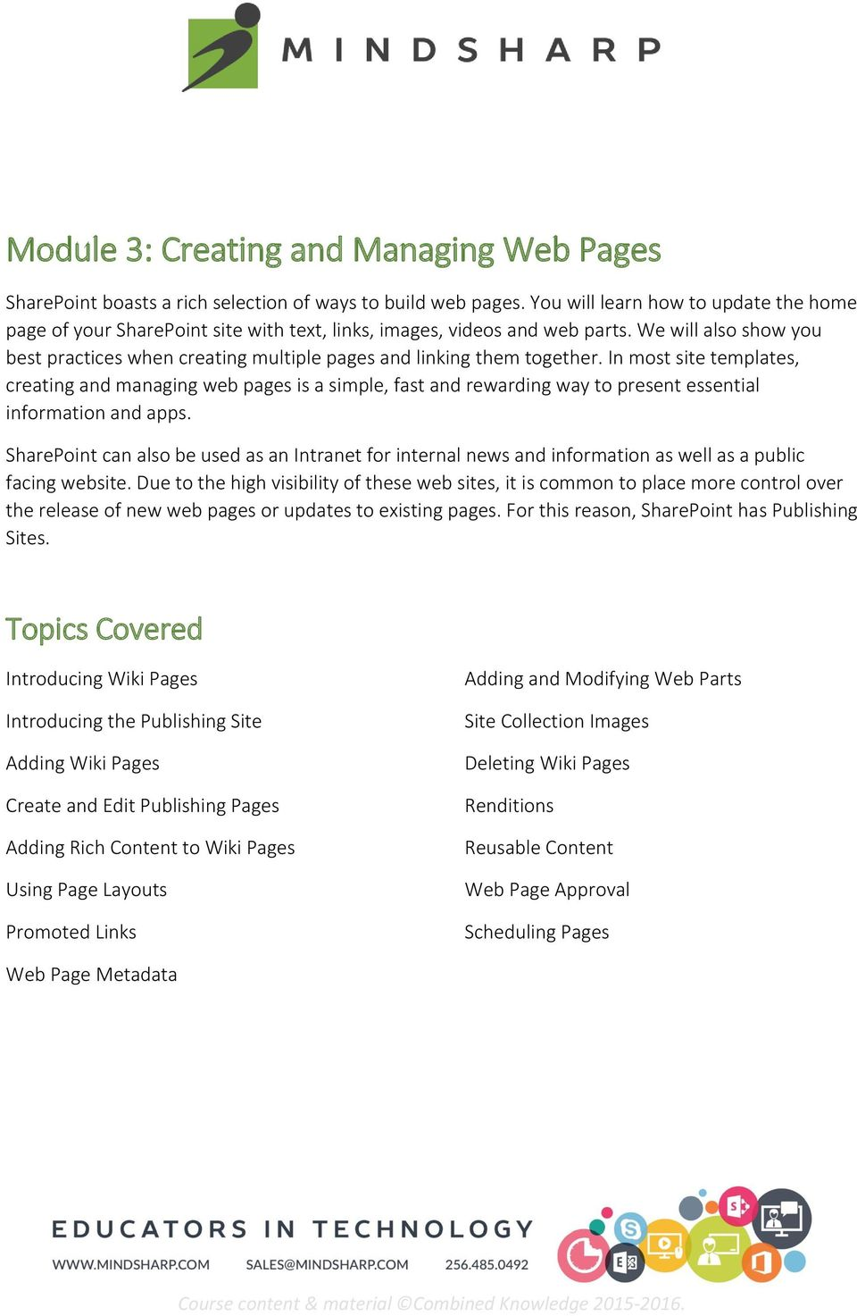 We will also show you best practices when creating multiple pages and linking them together.
