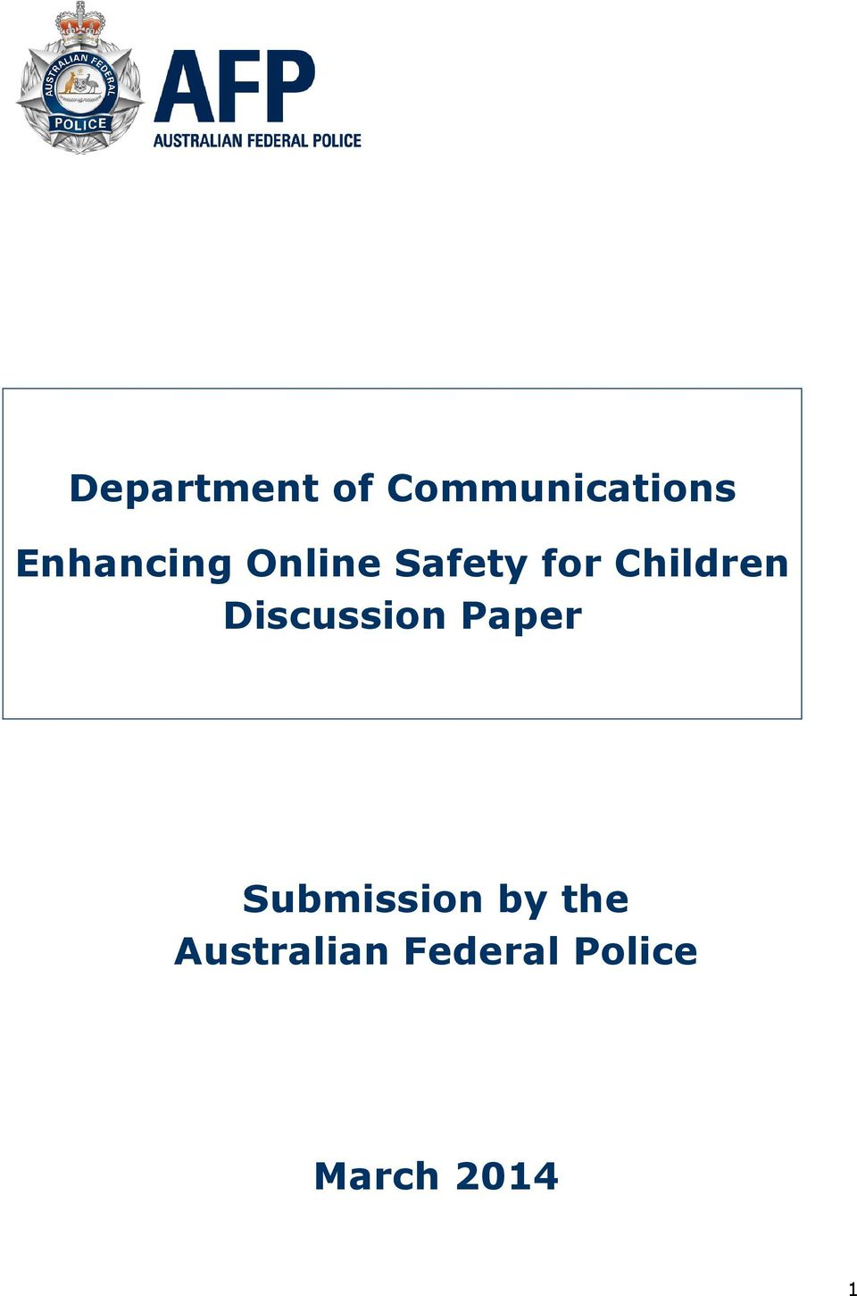 Children Discussion Paper
