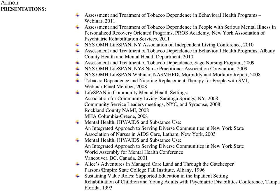 Assessment and Treatment of Tobacco Dependence in Behavioral Health Programs, Albany County Health and Mental Health Department, 2010 Assessment and Treatment of Tobacco Dependence, Sage Nursing