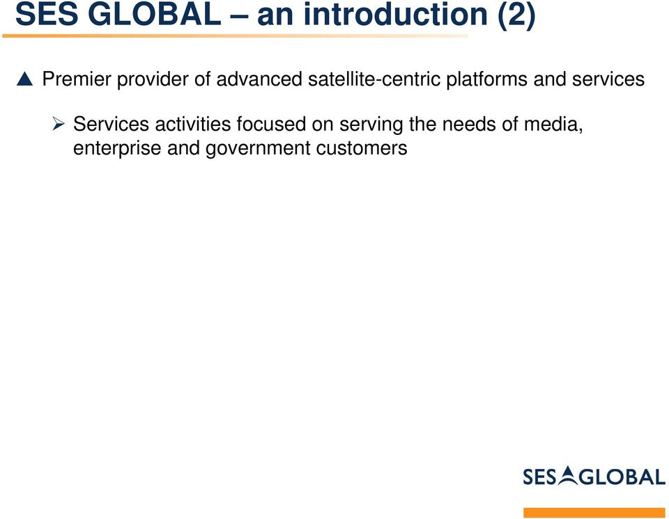 services Services activities focused on serving