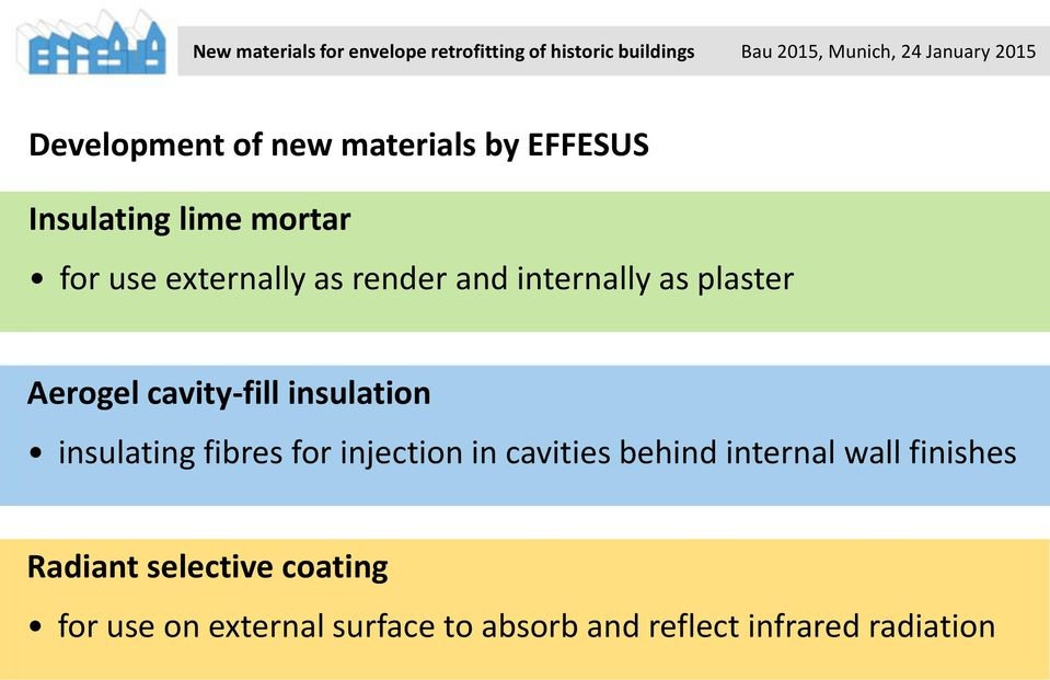 insulating fibres for injection in cavities behind internal wall finishes