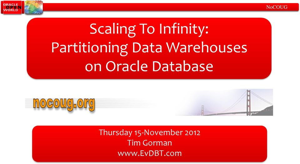 Oracle Database Thursday