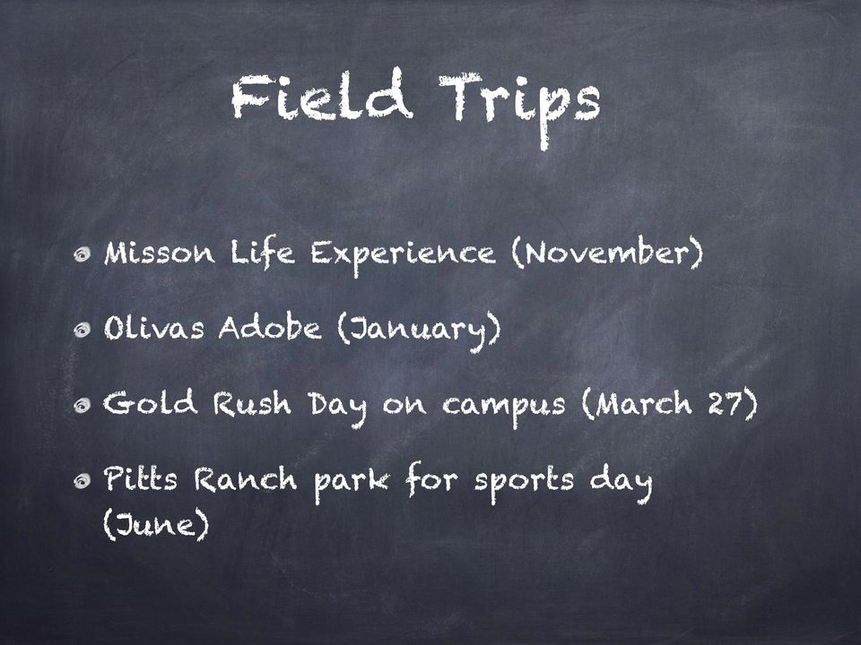 Gold Rush Day on campus (March 27)