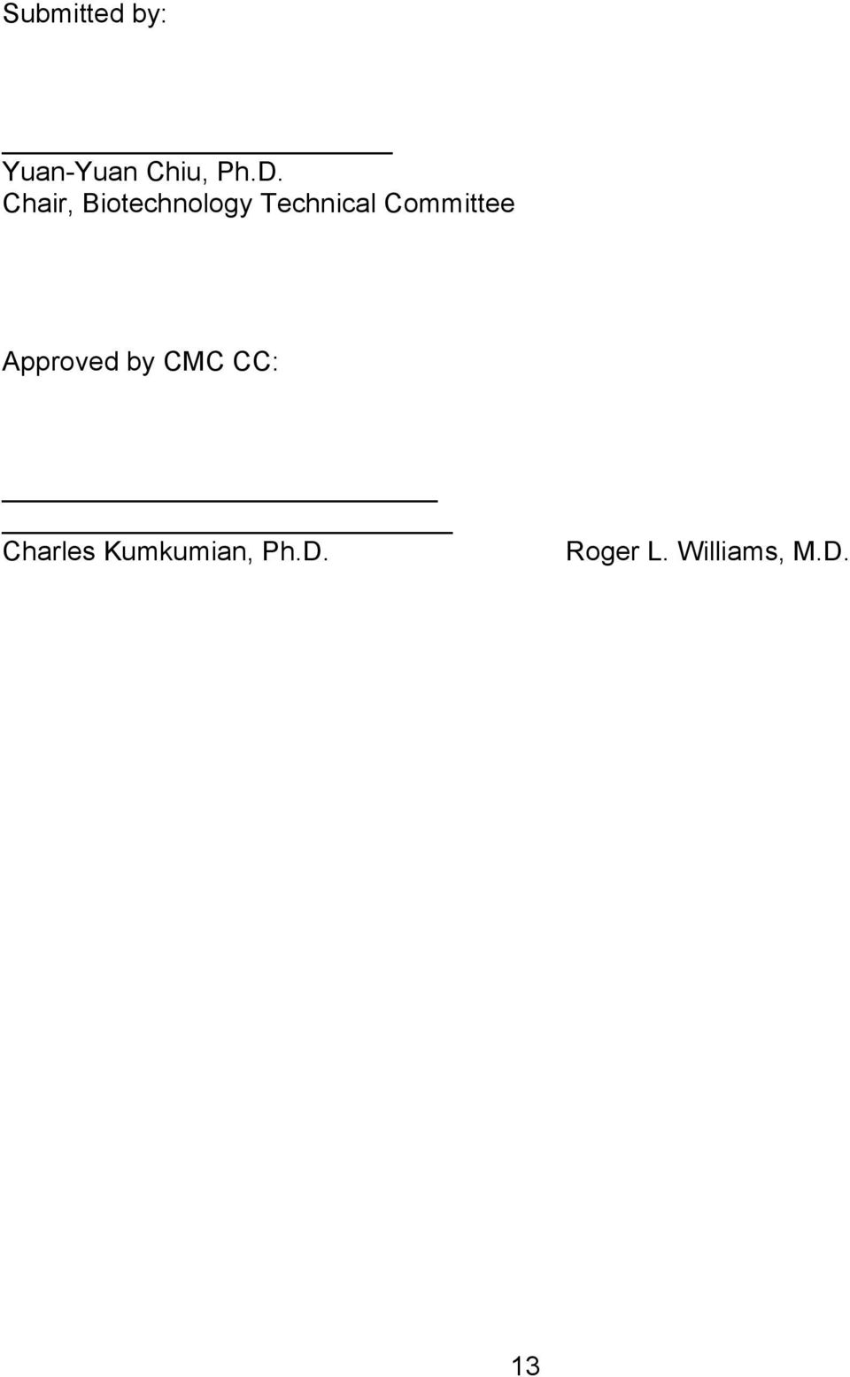 Committee Approved by CMC CC: