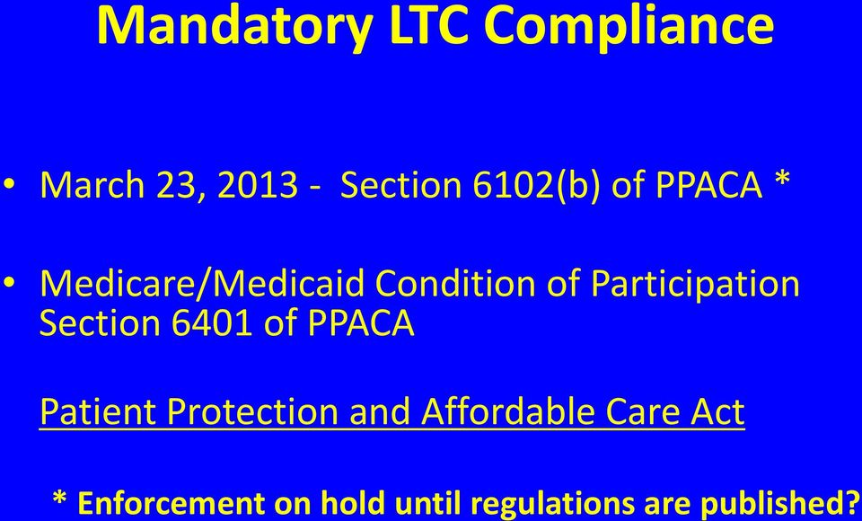 Section 6401 of PPACA Patient Protection and Affordable