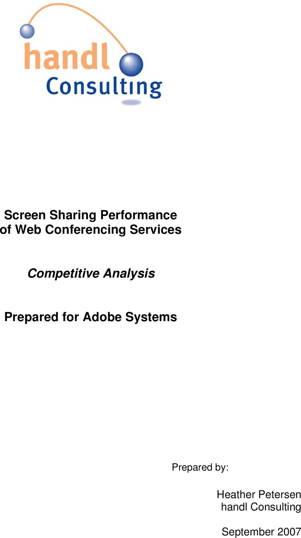 Analysis Prepared for Adobe Systems