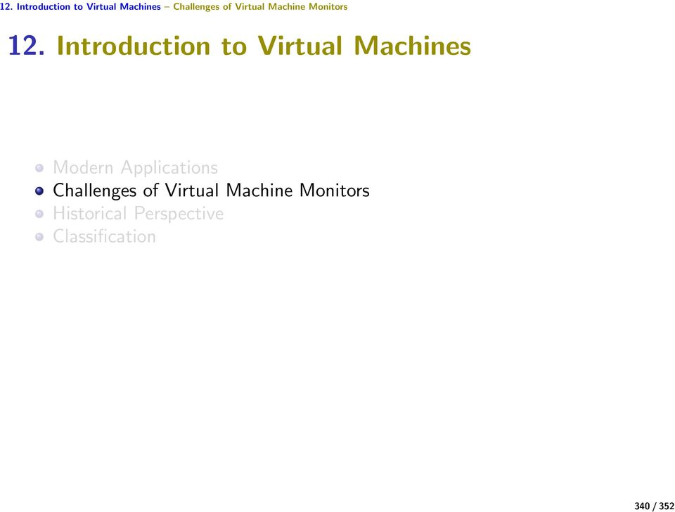 Introduction to Virtual Machines Modern Applications