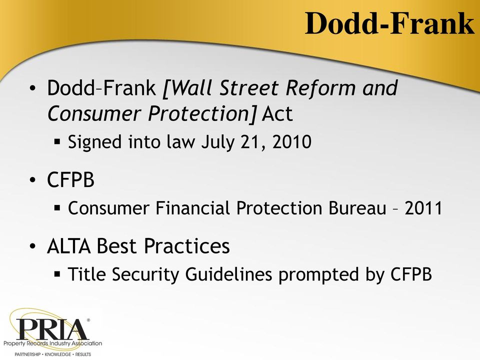 2010 CFPB Consumer Financial Protection Bureau 2011