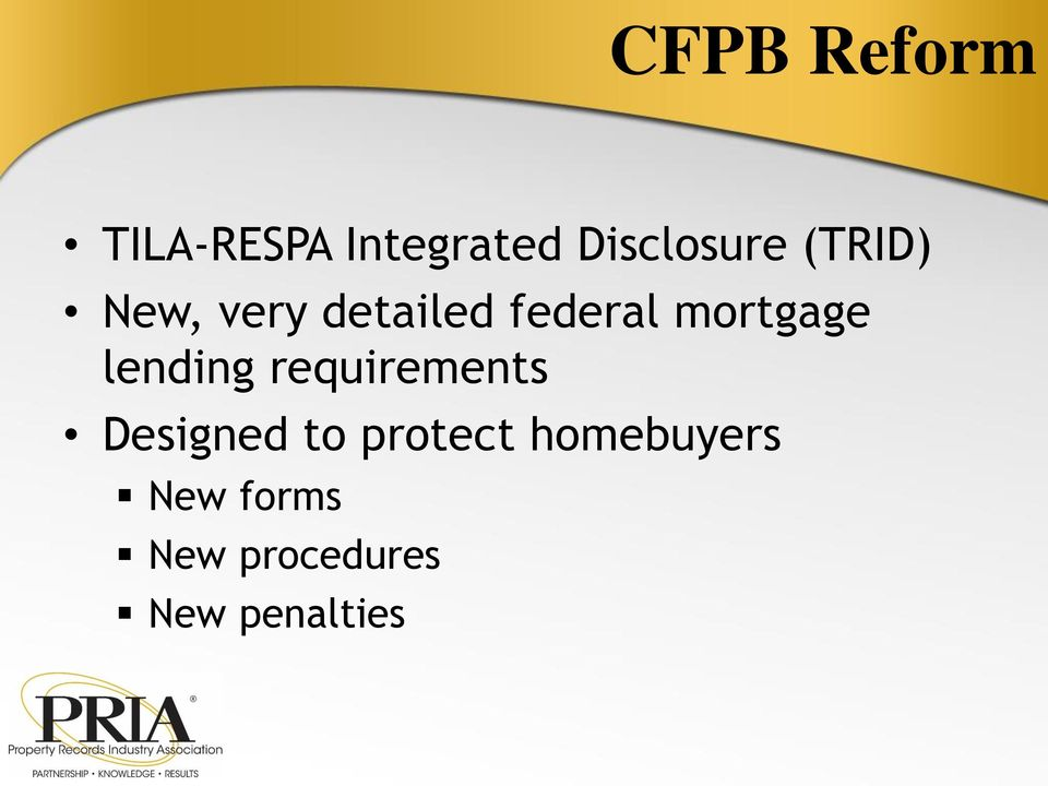 lending requirements Designed to protect