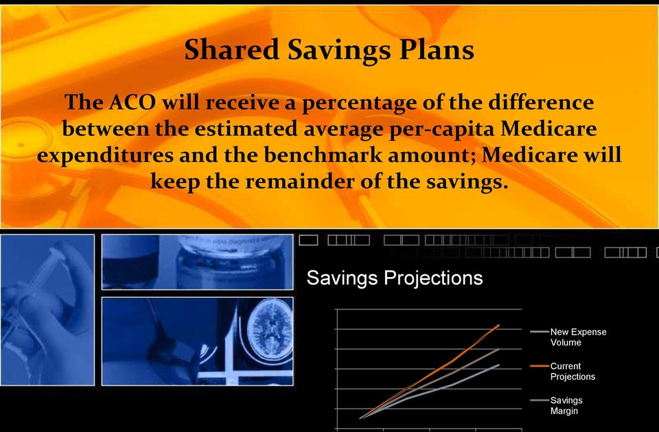 benchmark amount; Medicare will keep the remainder of the savings.