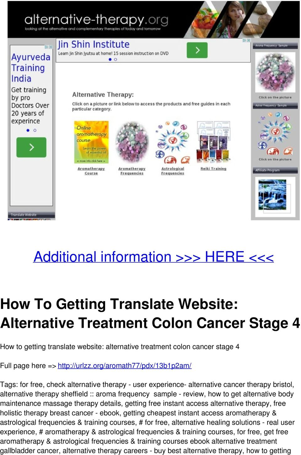 How To Getting Translate Website: Alternative Treatment