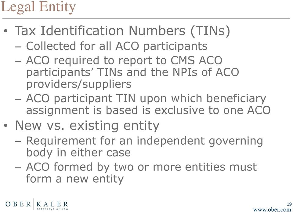 which beneficiary assignment is based is exclusive to one ACO New vs.