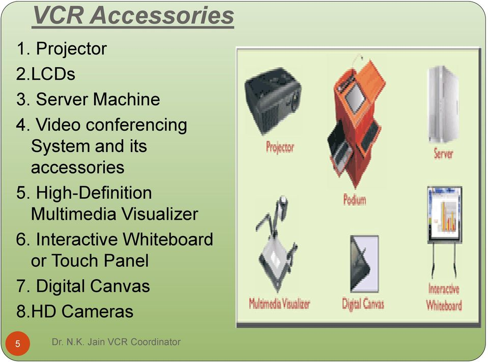 Video conferencing System and its accessories 5.