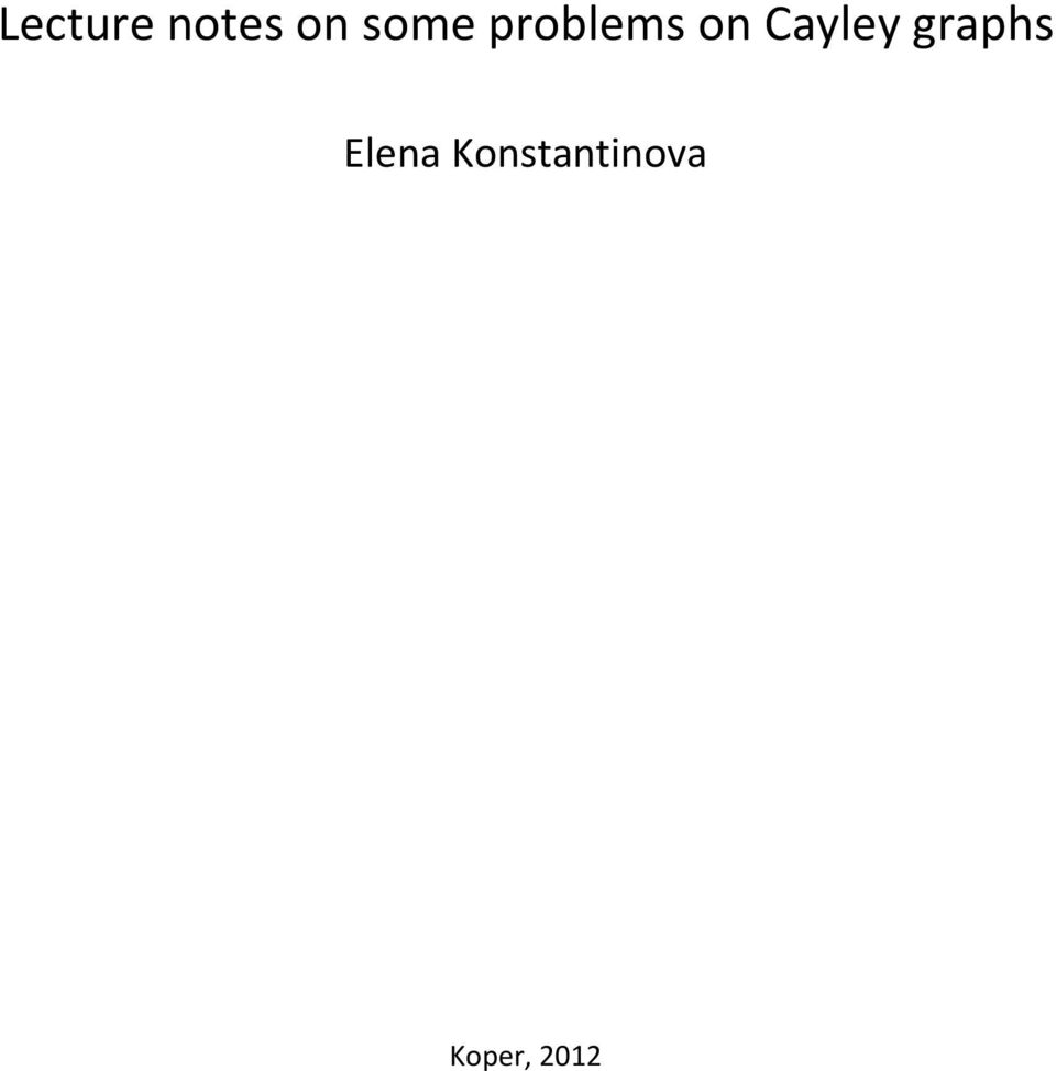 Cayley graphs Elena